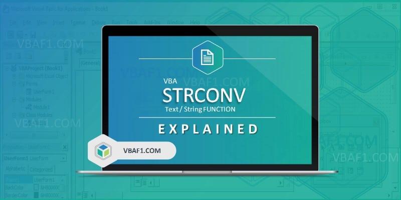 VBA STRCONV Function