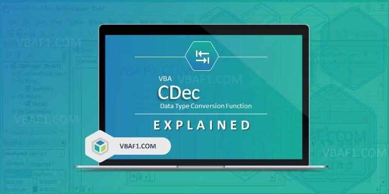 VBA CDec Function