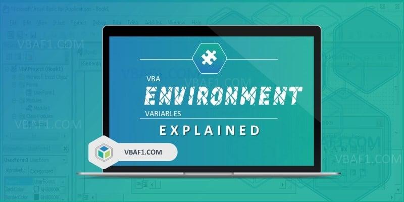 VBA Environment Variables