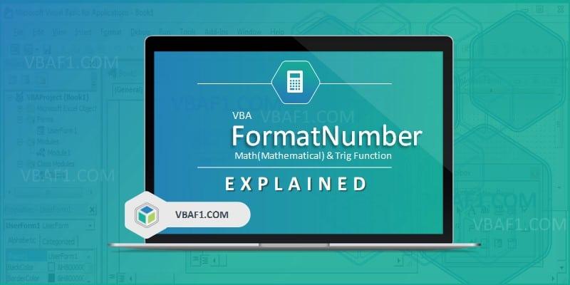 VBA FormatNumber Function