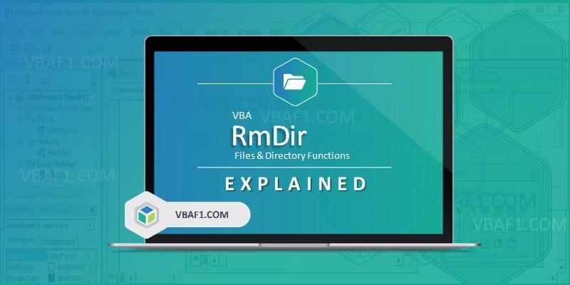 VBA RmDir Function