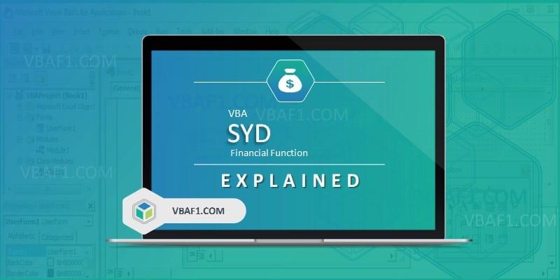 VBA SYD Function