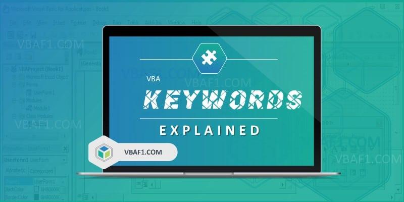 VBA Keywords