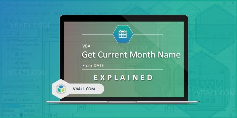VBA Get Current Month Name