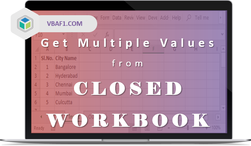 VBA get multiple values from closed workbook