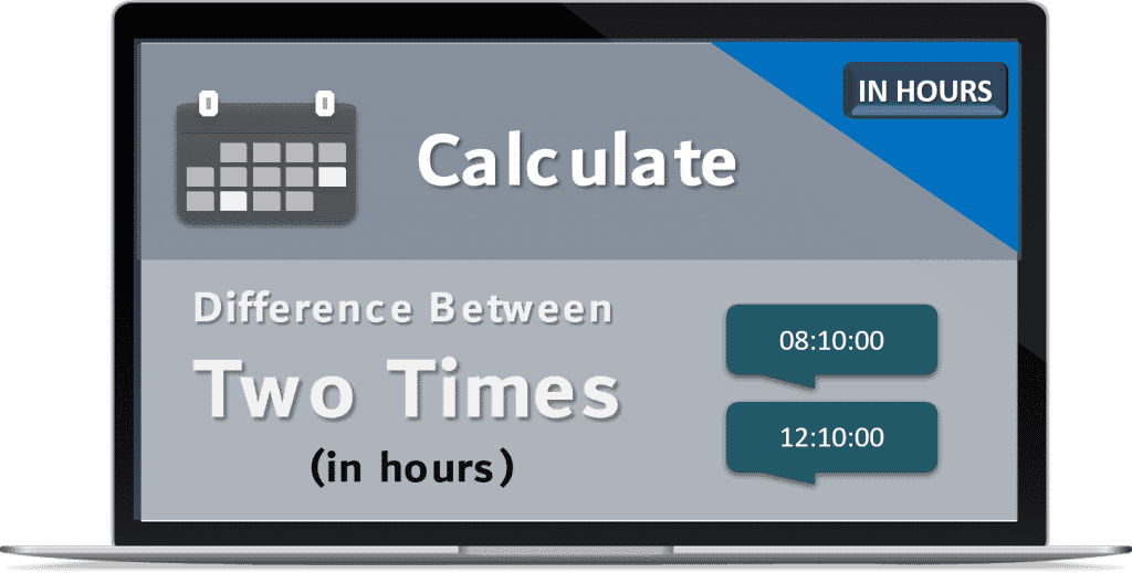 Calculate Difference Between two Times