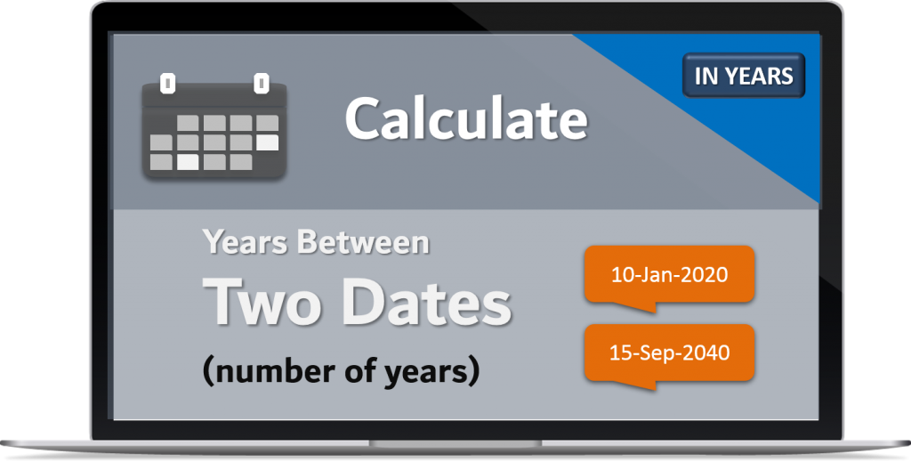 Calculate Years Between two Dates