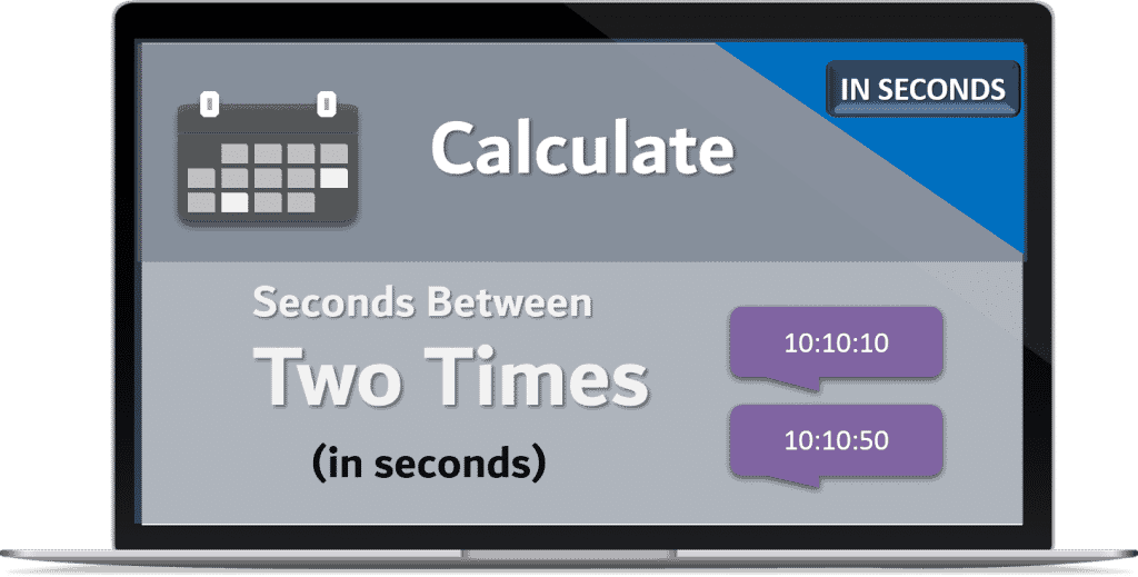 Calculate seconds Between two times