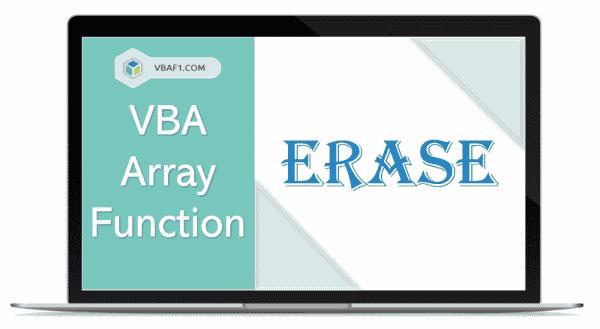 VBA Array Erase function