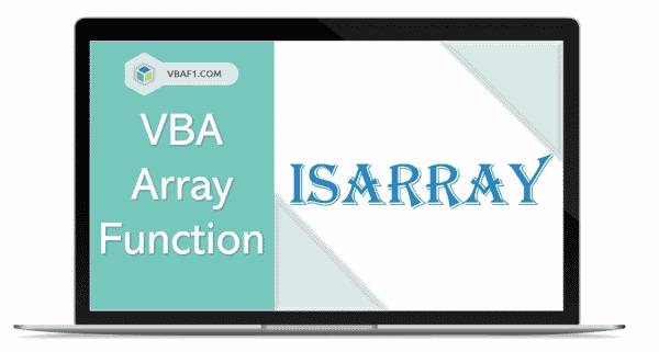VBA Array IsArray function