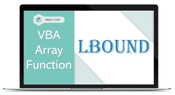 VBA Array LBound function