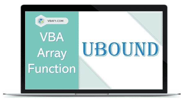 VBA Array UBound function
