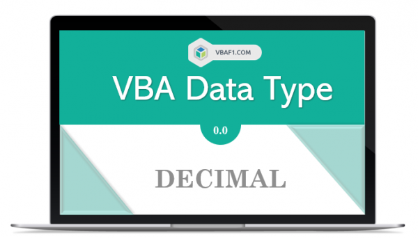 VBA Decimal Data Type in Excel