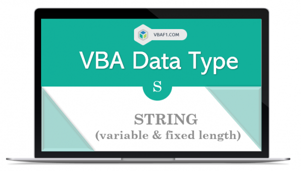 VBA String Data Type in Excel