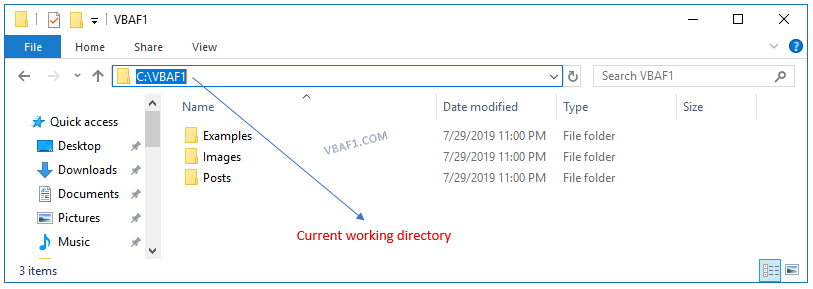 Get Current Working Directory
