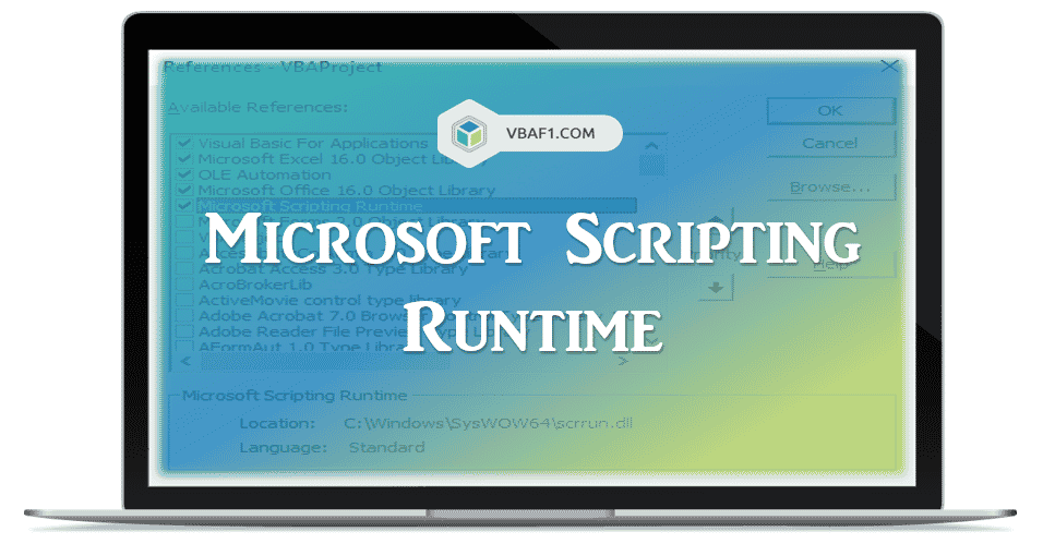Microsoft Scripting Runtime Reference