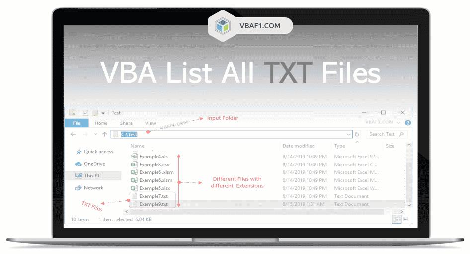 VBA Loop Through TXT Files in a Folder