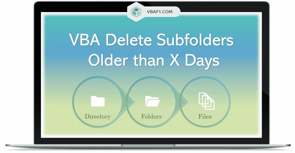 VBA Delete Subfolders Older than X Days