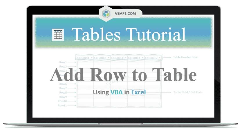 VBA Add Row to Table