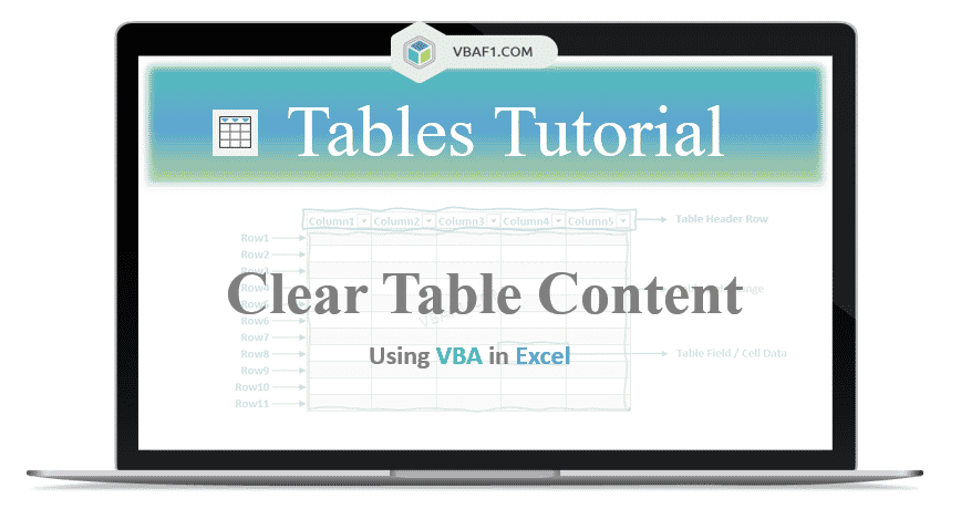 VBA Clear Table Content
