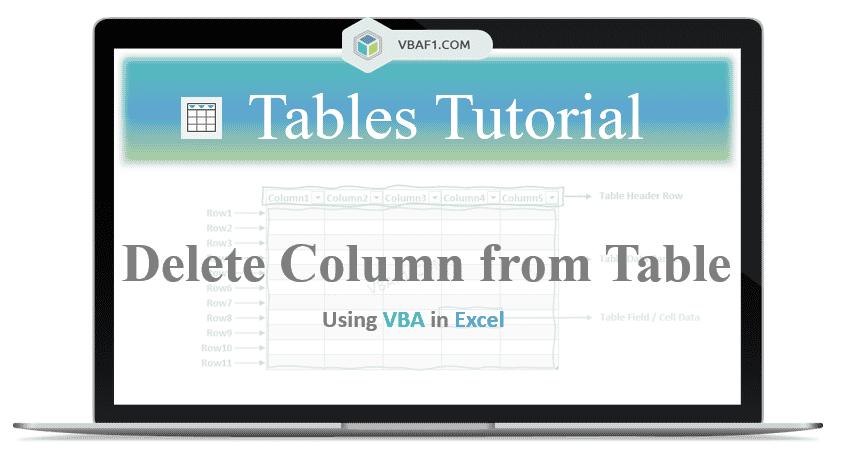 VBA Delete Column from Table