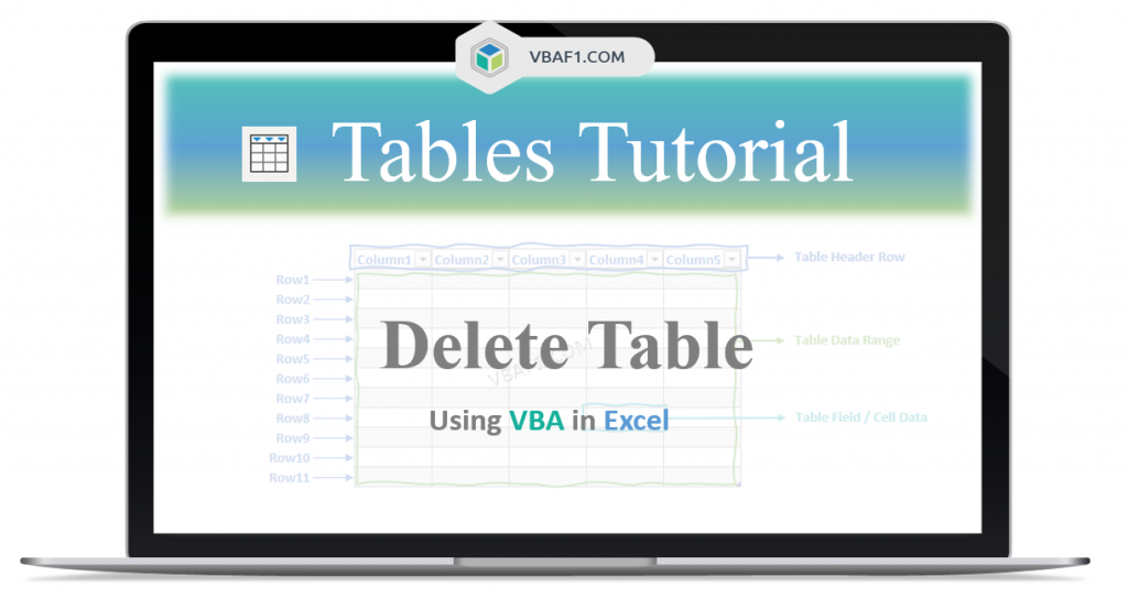 VBA Delete Table