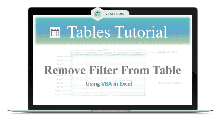 VBA Remove filter from table