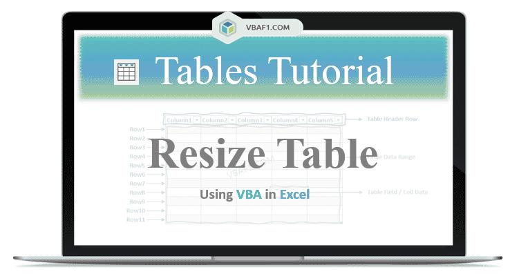 VBA Resize Table