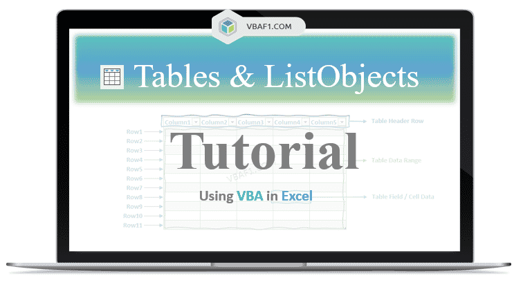 VBA Tables and ListObjects