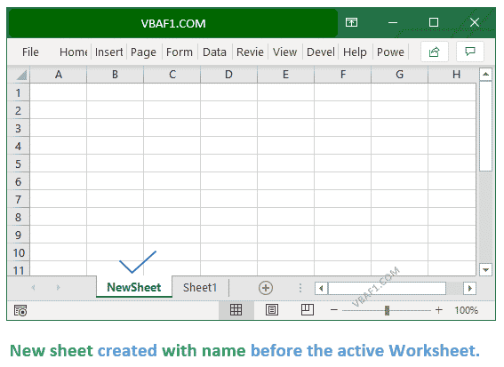 New Worksheet with Name